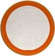 rug #879399 | round plain red-orange rug