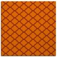 rug #880091   square red-orange traditional rug