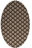 rug #880199 | oval beige geometry rug