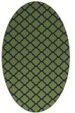 rug #880231 | oval green traditional rug