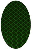 rug #880247 | oval green traditional rug