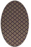 rug #880295   oval blue-violet rug
