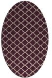rug #880339 | oval pink geometry rug