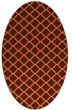 rug #880391 | oval orange popular rug