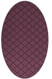 rug #880411 | oval purple geometry rug
