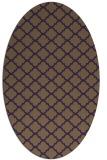 rug #880419 | oval purple traditional rug