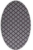 rug #880423 | oval purple traditional rug