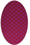 rug #880439 | oval red traditional rug