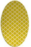 rug #880463 | oval white traditional rug
