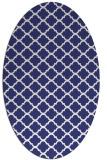 rug #880467 | oval white traditional rug