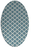 rug #880475 | oval white traditional rug