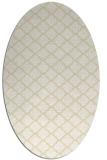 rug #880487 | oval yellow traditional rug