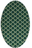 rug #880503 | oval yellow geometry rug