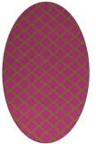 rug #880515 | oval light-green rug