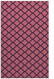 rug #880635 |  blue-violet traditional rug