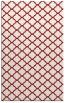 rug #880787 |  red geometry rug