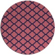 rug #880987 | round pink traditional rug
