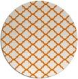 rug #881087 | round orange geometry rug