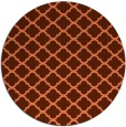 rug #881095 | round orange traditional rug