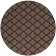 rug #881123 | round mid-brown traditional rug