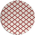 rug #881139 | round red traditional rug