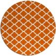 rug #881159   round red-orange geometry rug