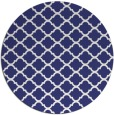 rug #881171 | round blue traditional rug