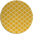rug #881187 | round yellow traditional rug