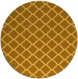 rug #881203 | round light-orange traditional rug