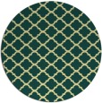 rug #881207 | round blue-green traditional rug