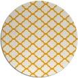 rug #881227 | round light-orange traditional rug