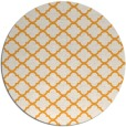 rug #881239 | round light-orange traditional rug