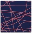 rug #881691 | square blue-violet stripes rug