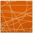 rug #881855 | square red-orange abstract rug