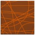 rug #881859 | square red-orange stripes rug