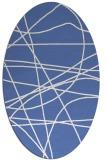 rug #881995   oval blue popular rug