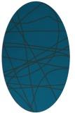 rug #882015 | oval blue rug