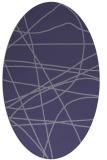 rug #882040 | oval stripes rug
