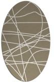 rug #882095 | oval white abstract rug