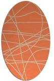 rug #882147   oval orange abstract rug