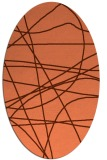 rug #882151 | oval red-orange abstract rug