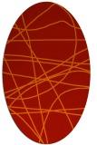rug #882191 | oval red stripes rug