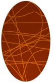 rug #882203 | oval red-orange abstract rug