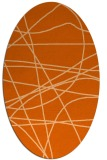 rug #882207 | oval red-orange abstract rug