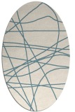 rug #882235 | oval white abstract rug