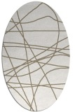 rug #882239 | oval white stripes rug