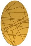 rug #882259   oval yellow abstract rug