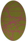 rug #882275   oval light-green abstract rug
