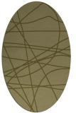 rug #882280 | oval stripes rug