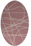 rug #882287 | oval pink rug